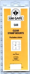 UNI-SAFE -  CLEAR STAMP MOUNTS G68 (PACK OF 10)