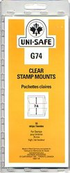 UNI-SAFE -  CLEAR STAMP MOUNTS G74 (PACK OF 10)