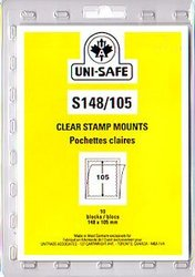 UNI-SAFE -  CLEAR STAMP MOUNTS S148/105 (PACK OF 10)