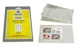 UNI-SAFE -  CLEAR STAMP MOUNTS S165/93 (PACK OF 10)