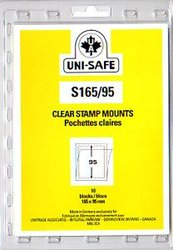 UNI-SAFE -  CLEAR STAMP MOUNTS S165/95 (PACK OF 10)
