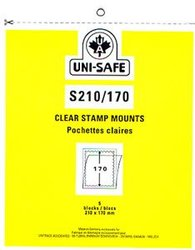UNI-SAFE -  CLEAR STAMP MOUNTS S210/170 (PACK OF 5)
