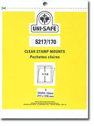UNI-SAFE -  CLEAR STAMP MOUNTS S217/170 (PACK OF 3)