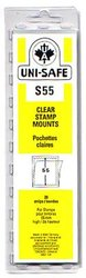 UNI-SAFE -  CLEAR STAMP MOUNTS S55 (PACK OF 20)