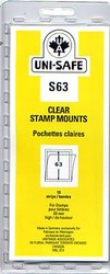 UNI-SAFE -  CLEAR STAMP MOUNTS S63 (PACK OF 10)