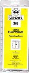 UNI-SAFE -  CLEAR STAMP MOUNTS S66 (PACK OF 10)