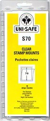 UNI-SAFE -  CLEAR STAMP MOUNTS S70 (PACK OF 10)