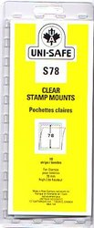 UNI-SAFE -  CLEAR STAMP MOUNTS S78 (PACK OF 10)