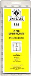 UNI-SAFE -  CLEAR STAMP MOUNTS S86 (PACK OF 8)