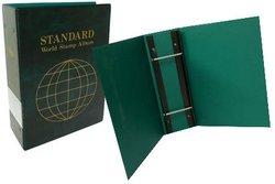 UNI-SAFE -  GREEN 3 1/2 STANDARD WORLD STAMP BINDER