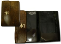 UNI-SAFE -  SELECTION STAMP CARD WALLETS - BROWN