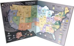 UNITED STATES -  1999-2009 STATE SERIES QUARTERS COLLECTOR'S MAP