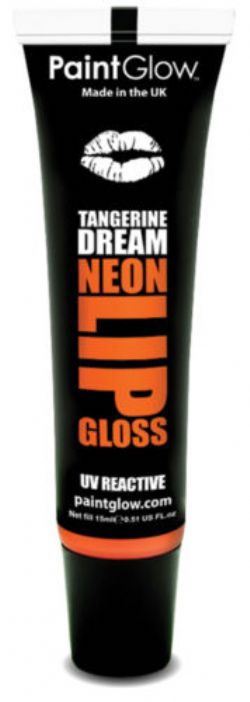 UV MAKE UP -  NEON LIP GLOSS - TANGERINE ORANGE