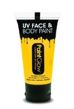 UV MAKE UP -  UV FACE & BODY PAINT - NEON YELLOW (50 ML)