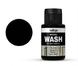 VALLEJO PAINT -  BLACK -  MODEL WASH 76518