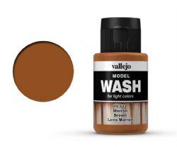 VALLEJO PAINT -  BROWN -  MODEL WASH 76513