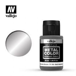 VALLEJO PAINT -  DARK ALUMINIUM -  METAL COLOR 77703
