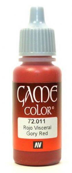VALLEJO PAINT -  GORY RED -  GAME COLOR 72011