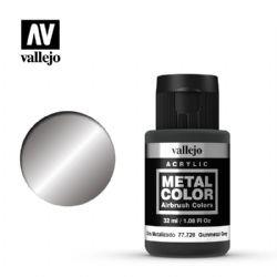VALLEJO PAINT -  GUNMETAL -  METAL COLOR 77720