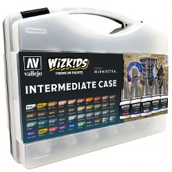 VALLEJO PAINT -  INTERMEDIATE CASE -  WIZKIDS PREMIUM PAINTS