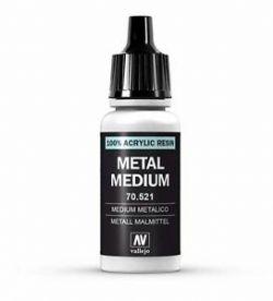 VALLEJO PAINT -  METAL MEDIUM -  MEDIUM 70521