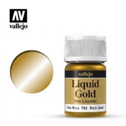 VALLEJO PAINT -  RICH GOLD -  LIQUID GOLD 70793