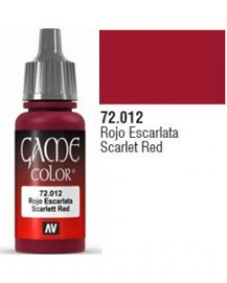 VALLEJO PAINT -  SCARLET RED -  GAME COLOR 72012