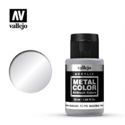 VALLEJO PAINT -  SEMI MATE ALUMINIUM -  METAL COLOR 77716