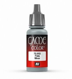 VALLEJO PAINT -  SILVER -  GAME COLOR 72052