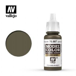 VALLEJO PAINT -  US OLIVRE DRAB -  MODEL COLOR 70887
