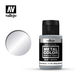 VALLEJO PAINT -  WHITE ALUMINIUM -  METAL COLOR 77706