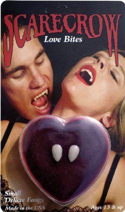 VAMPIRE -  LOVE BITES - DELUXE VAMPIRE FANGS