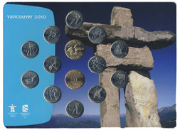 VANCOUVER 2010 -  2007-2010 OLYMPICS GAMES COINS OFFICIAL SET (INUKSHUK) -  2007 CANADIAN COINS