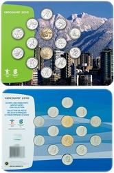VANCOUVER 2010 -  2007-2010 OLYMPICS GAMES COINS OFFICIAL SET (LANDSCAPE) -  2007 CANADIAN COINS