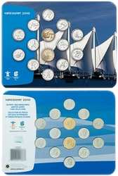 VANCOUVER 2010 -  2007-2010 OLYMPICS GAMES COINS OFFICIAL SET (VANCOUVER) -  2007 CANADIAN COINS