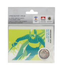 VANCOUVER 2010 -  2010 VANCOUVER OLYMPIC GAMES COIN CARD - ALPINE SKIING 2008 -  2007-2010 CANADIAN COINS 05