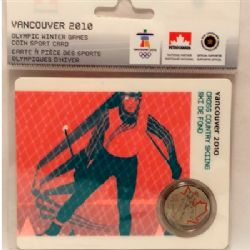 VANCOUVER 2010 -  2010 VANCOUVER OLYMPIC GAMES COIN CARD - CROSS COUNTRY SKIING 2009 -  2007-2010 CANADIAN COINS 10