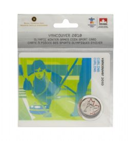 VANCOUVER 2010 -  2010 VANCOUVER OLYMPIC GAMES COIN CARD - CURLING 2007 -  2007-2010 CANADIAN COINS 01