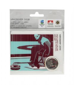 VANCOUVER 2010 -  2010 VANCOUVER OLYMPIC GAMES COIN CARD - WHEELCHAIR CURLING 2007 -  2007-2010 CANADIAN COINS 03