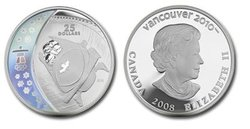 VANCOUVER 2010 -  BOBSLEIGH -  2008 CANADIAN COINS 10