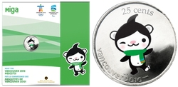 VANCOUVER 2010 -  MIGA - 2010 VANCOUVER OLYMPIC GAMES MASCOT -  2008 CANADIAN COINS