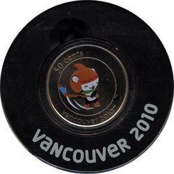 VANCOUVER 2010 -  MIGA - 2010 VANCOUVER OLYMPIC GAMES MASCOT -  2010 CANADIAN COINS