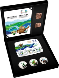 VANCOUVER 2010 -  OLYMPIC GAMES BRONZE COLLECTOR'S SET -  2010 CANADIAN COINS