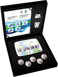 VANCOUVER 2010 -  OLYMPIC GAMES SILVER COLLECTOR'S SET -  2010 CANADIAN COINS