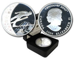 VANCOUVER 2010 -  SKI JUMPING -  2009 CANADIAN COINS 15