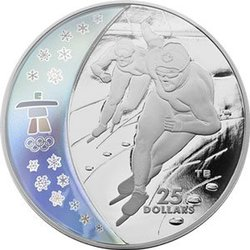 VANCOUVER 2010 -  SPEED SKATING -  2009 CANADIAN COINS 11