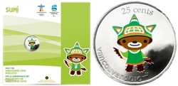 VANCOUVER 2010 -  SUMI - 2010 VANCOUVER OLYMPIC GAMES MASCOT -  2008 CANADIAN COINS