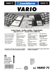 VARIO -  5 STOCK SHEETS, 7 POCKETS, CLEAR
