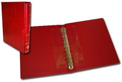 VARIO-F -  RED RINGBINDER WITH SLIPCASE