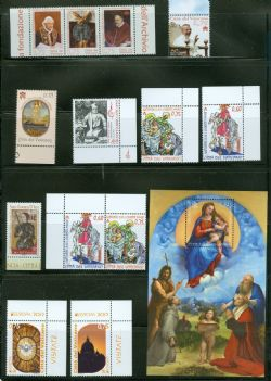 VATICAN -  2012 COMPLETE YEAR SET, NEW STAMPS